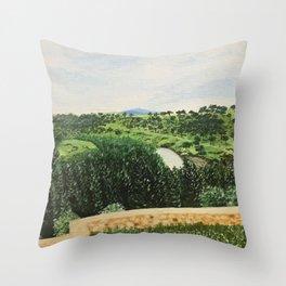 Outskirts of Segovia Throw Pillow