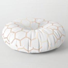 Geometric Honeycomb Pattern - Rose Gold #372 Floor Pillow