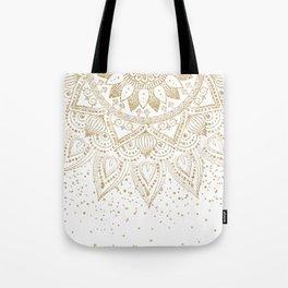 Elegant Gold Mandala Confetti Design Tote Bag