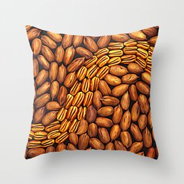 Pecan Swirl Throw Pillow