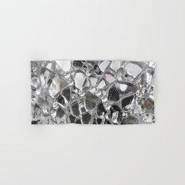 Silver Mirrored Mosaic Hand & Bath Towel