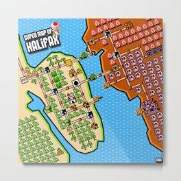 Super Map of Halifax Metal Print