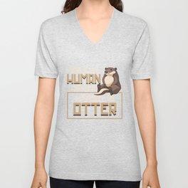 Otter Human Unisex V-Neck