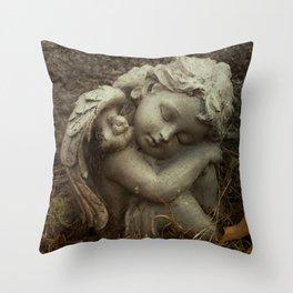 November Cherub Throw Pillow