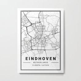 Eindhoven Light City Map Metal Print