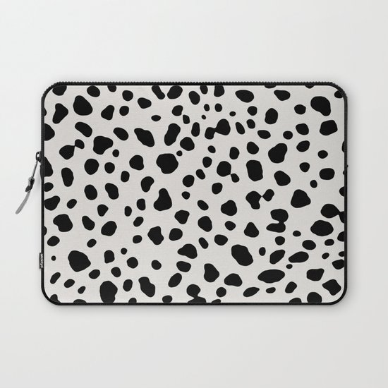 Polka Dots Dalmatian Spots Black And White by beautifulhomes