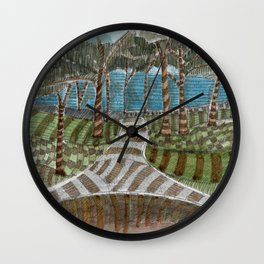 Meandering Landscapes: Swirling Around (BP) Wall Clock