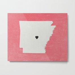 Arkansas Love Metal Print