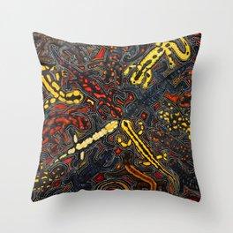 Salamanders Throw Pillow