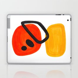 Midcentury Modern Colorful Abstract Pop Art Space Age Fun Bright Orange Yellow Colors Minimalist Laptop & iPad Skin