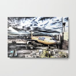 Iran Air Airbus A330 Art Metal Print