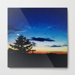 Sunset in Fall Metal Print