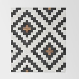 Urban Tribal Pattern No.16 - Aztec - Concrete and Wood Throw Blanket