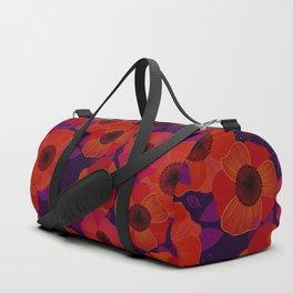 Poppy Flowers Duffle Bag