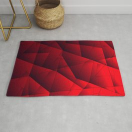 Bright contrasting red fragments of crystals on triangles of irregular shape. Rug