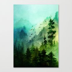 Mountain Morning Canvas Print