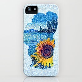 Lake Tahoe Sunflower iPhone Case