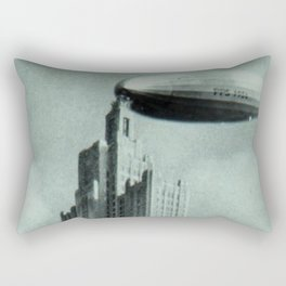 1928 Dirigible Patoka docking at the observation deck atop the Superman building in Providence RI Rectangular Pillow