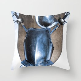 SHIELDS, HELMETS AND SWORDS Throw Pillow
