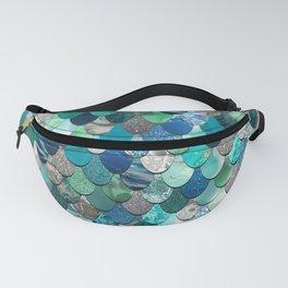Mermaid Art, Sea,Teal, Mint, Aqua, Blue Fanny Pack