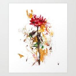 Abstract Rose Art Print
