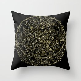 Astro Astronomy Constellations Astrologer Vintage Map Throw Pillow