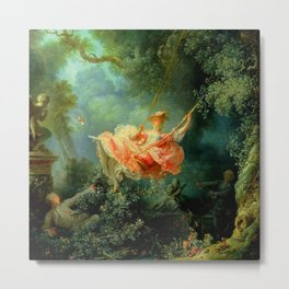 """Jean-Honoré Fragonard """"The Swing (L'Escarpolette)(The Happy Accidents of the Swing"""") Metal Print"""
