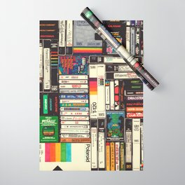 Cassettes, VHS & Games Wrapping Paper