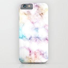 Rainbow Marble Pattern iPhone Case