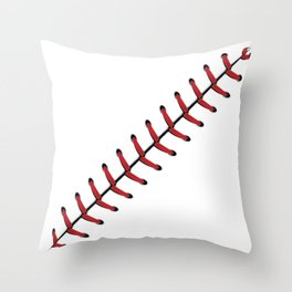 Baseball Lace line Throw Pillow