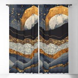 Metallic Mountains Blackout Curtain