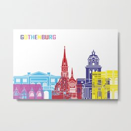 Gothenburg skyline pop Metal Print