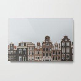 Amsterdam Charming Houses Metal Print