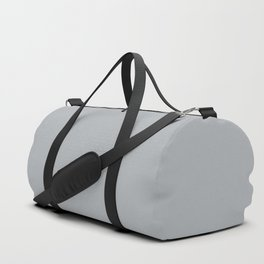 Ultra Pale Grey Solid Color Parable to Jolie Paints French Grey Duffle Bag
