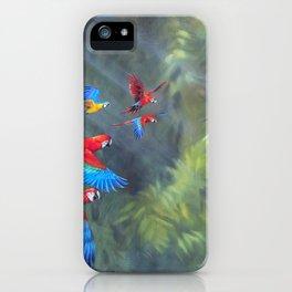 Manu Morning - Scarlet Macaws iPhone Case