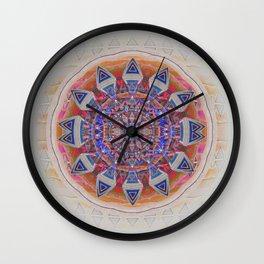 Holy Roller Glowing Boho Meditation Neo Tribal Mandala Wall Clock