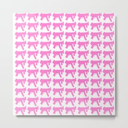 Pink GUN  Metal Print