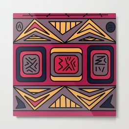 Ethnic background folk african pattern Metal Print