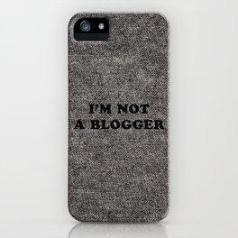 Blogger iPhone Case