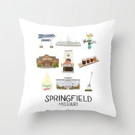 Springfield, Missouri Throw Pillow