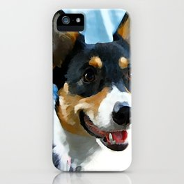 Tri Color Welsh Pembroke Corgi iPhone Case