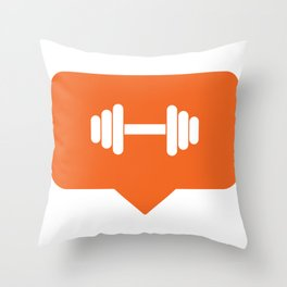 I like working out! Throw Pillow