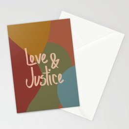 Love and Justice in Fall Colors Stationery Cards
