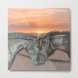 Equestrian Love Metal Print