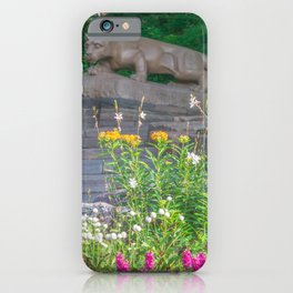 Penn State Nittany Lion Shrine Flowers Print iPhone Case