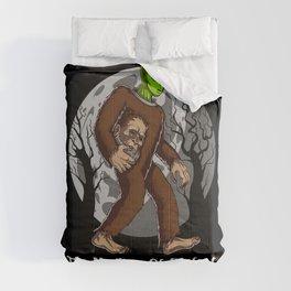 Alien Bigfoot Mystery Solved Conspiracy Comforters