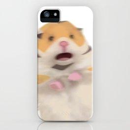 Scared Hamester iPhone Case