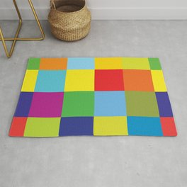 Colored squares Rug