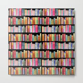 Vintage Book Library for Bibliophile Metal Print