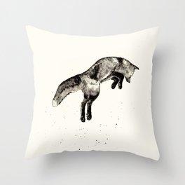 Fox Ink Throw Pillow